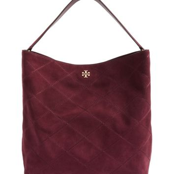 Tory Burch Frida Stitched Suede Hobo | Nordstrom