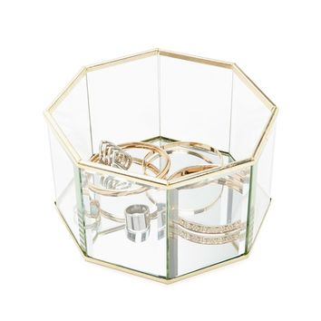 Mirrored Glass Jewelry Box