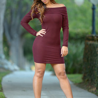 State of Grace Dress - Burgundy