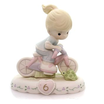 Precious Moments AGE 6 GROWING IN GRACE Porcelain Bicycle Blonde 152012