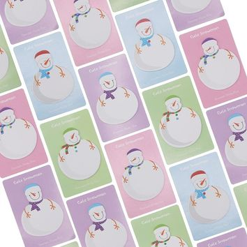 1 Pcs Korean Stationery Kawaii Snowman Memo Pad Paper Sticky Notes Stickers Planner Christmas Gift Decoration School Supplies