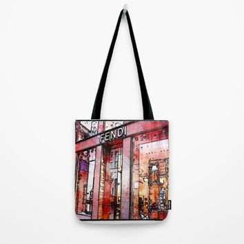 pencil store window  Tote Bag by Jessica Ivy