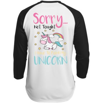 Sorry Not Tonight. I Have To Feed My Unicorn Polyester Game Baseball Jersey