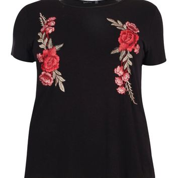 Plus Bella Embroidered Tshirt