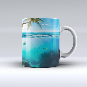 The Underwater Reef ink-Fuzed Ceramic Coffee Mug