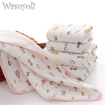 Wasoyoli Baby Bamboo Changing Pads 3 Sizes Newborn Baby Portable Reusable Changing Pad Infant Bedding Waterproof Mat Play Mat
