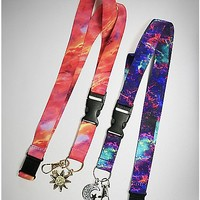 Galaxy Sun and Moon Lanyard 2 Pack - Spencer's