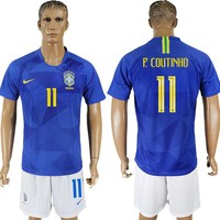 2018 World Cup Brazil Team Football Clothes Football Shirt Football Jersey Soccer Jersey Soccer Uniform (2 Piece)