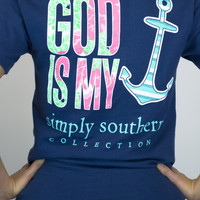 God Is My Anchor Simply Southern Tee