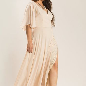 Plus Rebecca Nude Maxi Dress
