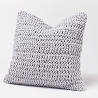Woven Rope Pewter Pillow