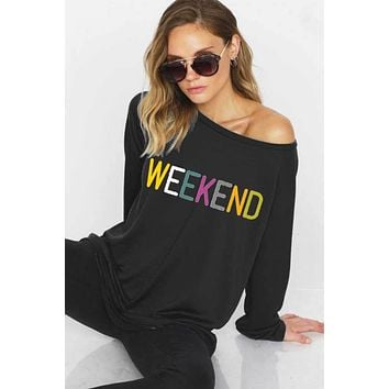 Colorful Weekend Sweatshirt