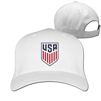IYaYa New Fashion New US Soccer Logo Adjustable Peaked Cap Hats White