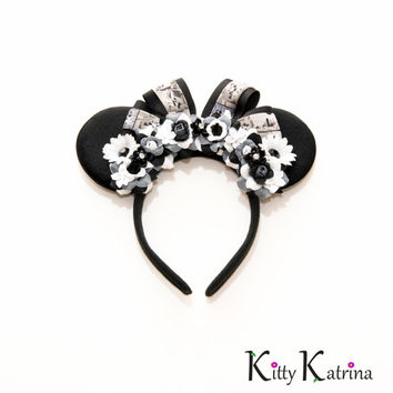 Steamboat Willie Disney Ears Headband, Classic Minnie Ears, Classic Mickey Mouse, Disney Headband, Disney Bound, Disneyland, Disney World