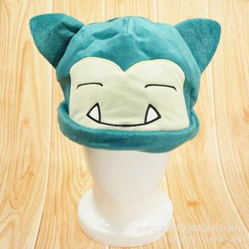 Snorlax Funny Cute Hat Cosplay Winter Keep Warm Hat For Men Women  Plush Hat Cosplay Hats Custume 8Z-ZA185Kawaii Pokemon go  AT_89_9