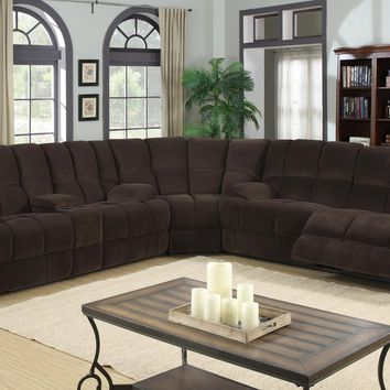 201 - The Dona Reclining Sectional - Chocolate