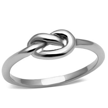 Love Knot High Polish Promise Ring