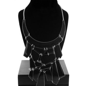 Reversable Glam Geometric Collar Necklace