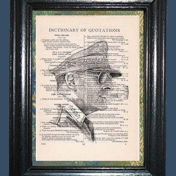 WWII Pacific General Douglas MacArthur - Vintage Dictionary Book Page Art, Upcycled Book Art Print on Vintage Dictionary Page, Mixed Media