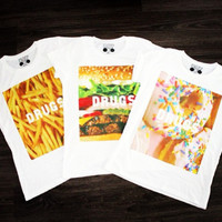 T-shirt: batoko www.batoko.com fast food fries donut burger