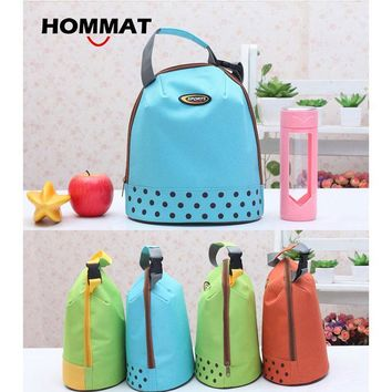 Thermal Insulated Cooler Lunch Bag for Kids Girls School Lunch Boxs Carry Lunch Tote Bag Water Bottle Bag Cotton Bolsa Termica