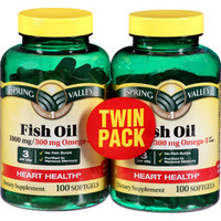Walmart: Spring Valley Omega-3 Fish Oil Dietary Supplement Softgels, 1000mg, 100 pc, 2 ct