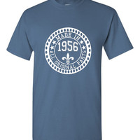 Made in 1956 All Original Parts Tshirt. 59th Birthday Shirt.  Funny Birthday Tshirts. Ladies and Mens Unisex Styles. Makes A Great Gift.