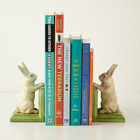 Handpainted Bunny Bookends