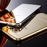 Luxury Aluminum Ultra-thin Mirror Effect Metal Case Cover for Samsung s6 iPhone 6 4.7""