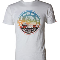 Shop US Open Photo Lock Up T Shirt by VANS (#VN-0VQ1) on Jack's Surfboards