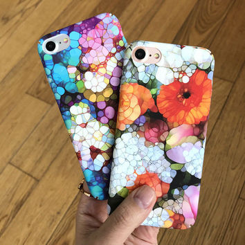 Retro Floral Case for iPhone 7 7Plus & iPhone 6 6 Plus High Quality Cover -0322