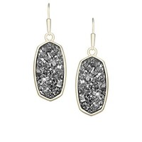 Danay Gold Earrings in Platinum Crystallized Drusy - Kendra Scott Jewelry