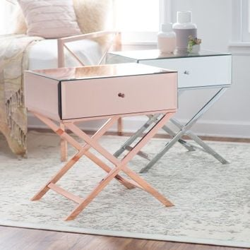 Belham Living Reflection Campaign Table - End Tables at Hayneedle