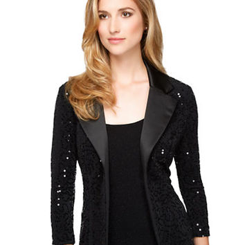 Alex Evenings Sequined Jacket Twinset