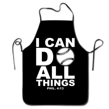 Women Custom Aprons Home I Can Do All Things Bible Verse Christian