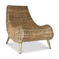Capri Rattan Side Chair NATURAL