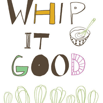 Whip It Good Kitchen Art Print 8x10 by UUPP on Etsy
