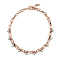 Spheres of Influence Single Row Sphere Choker - Rose Gold/ Rhodium