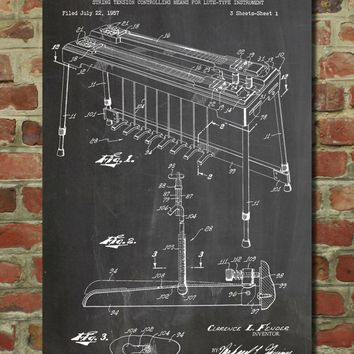 Fender Pedal Steel Guitar Patent Poster