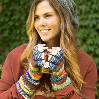 NEW! Crazy Finger Striped Gloves: Soul-Flower Online Store