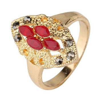 Womens Fashion Casual Jewelry Unique Best Gift New Hot Women Vintage Retro Old Gold Ring Rings-28