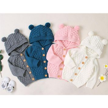 Remi's Knitted Hooded Sweater Jacket