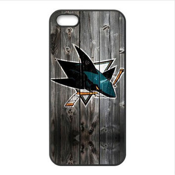 NHL San Jose Sharks Wood lookalike Hockey  Plastic Cover Case for Apple iPhone 4 4s 5 5s 5c 6 6s 6plus 6s plus