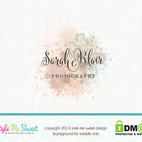 Premade Photography Logo Watercolor Logo Small Business Logo Watermark Logo