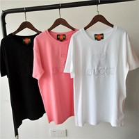 GUCCI Embroidery LOGO T-shirt
