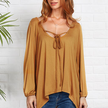 Cupshe Get Uneven Plunging Casual Top