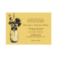 Wild flowers & Mason Jar Wedding Invitations from Zazzle.com