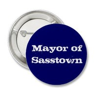 Mayor of Sasstown Pinback Buttons from Zazzle.com