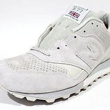 ICIKGQ8 new balance men s m577fw made in england gray suede sneaker size 11 5