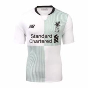 17-18 Liverpool Away White Soccer Jersey Shirt